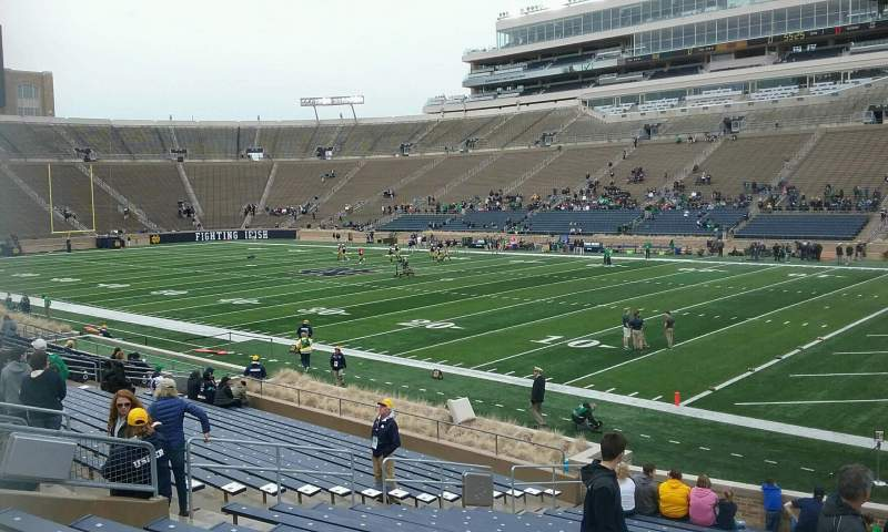 Seating view for Notre Dame Stadium Section 6 Row 28 Seat 5