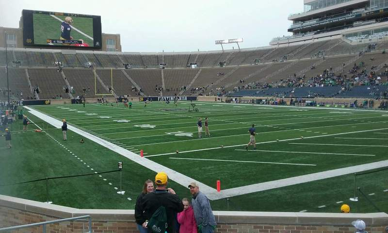 Seating view for Notre Dame Stadium Section 4 Row 14 Seat 10