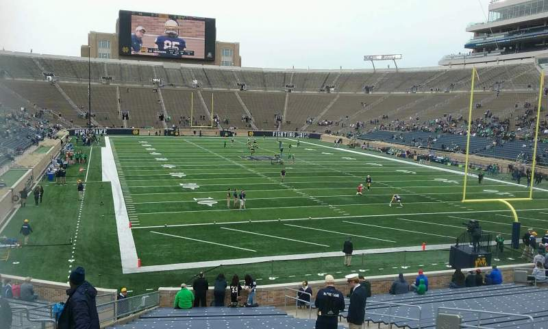 Seating view for Notre Dame Stadium Section 3 Row 35 Seat 14