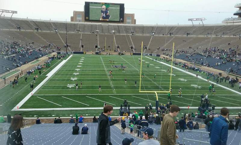 Seating view for Notre Dame Stadium Section 2 Row 51 Seat 3