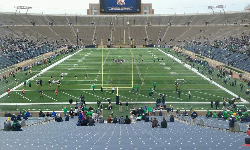 Seating view for Notre Dame Stadium Section 1 Row 57 Seat 12