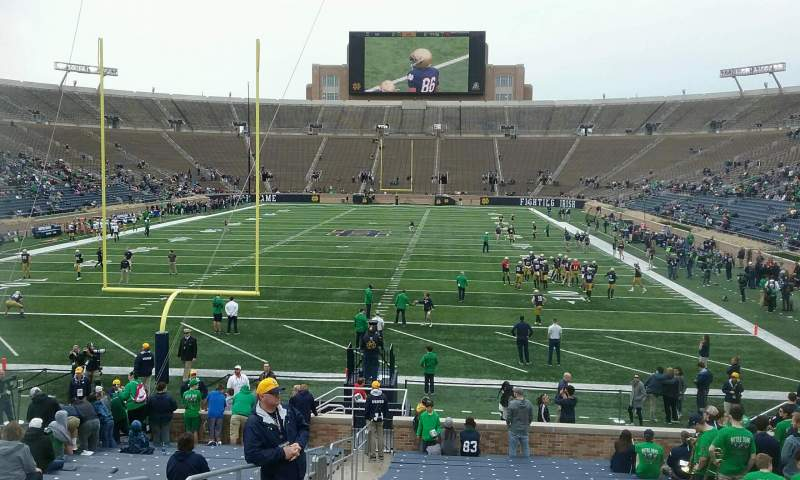 Seating view for Notre Dame Stadium Section 36 Row 30 Seat 20
