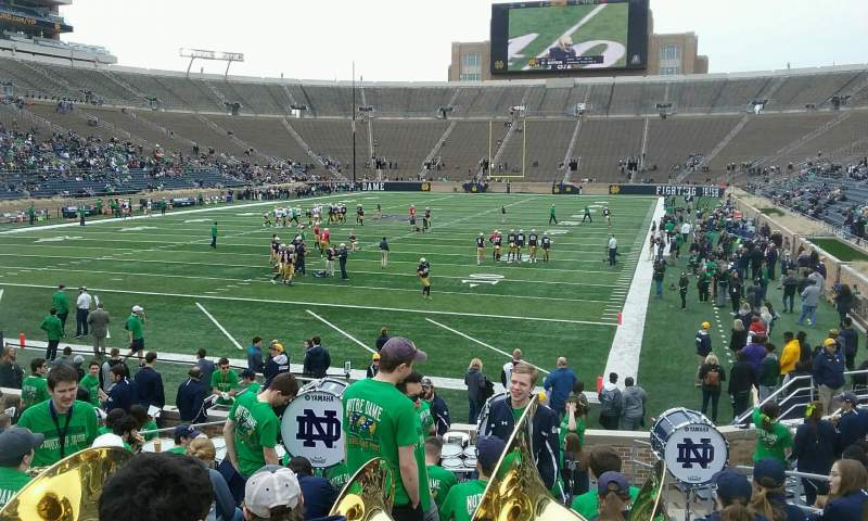 Seating view for Notre Dame Stadium Section 35 Row 23 Seat 8
