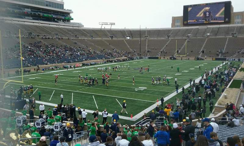 Seating view for Notre Dame Stadium Section 34 Row 36 Seat 21