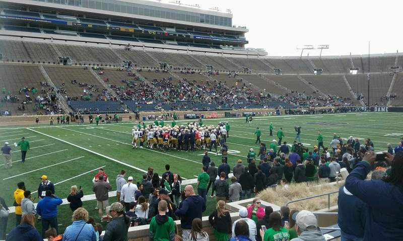Seating view for Notre Dame Stadium Section 32 Row 16 Seat 12