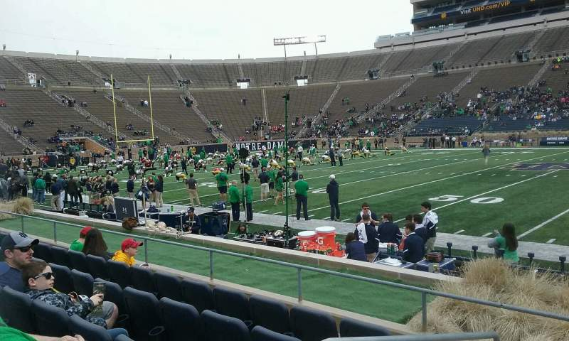 Seating view for Notre Dame Stadium Section 27 Row E Seat 23