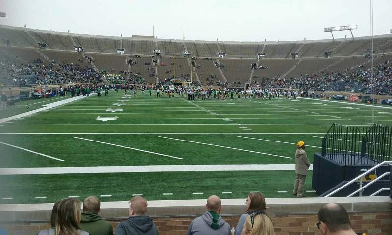 Seating view for Notre Dame Stadium Section 20 Row 10 Seat 12
