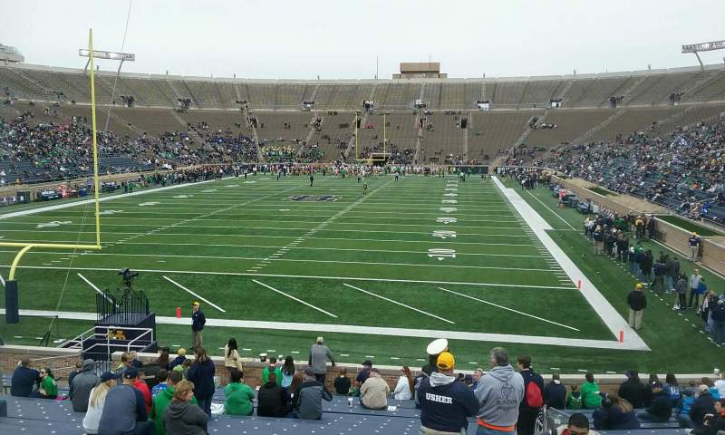 Seating view for Notre Dame Stadium Section 18 Row 30 Seat 5