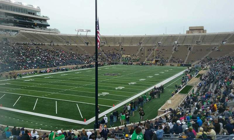 Seating view for Notre Dame Stadium Section 16 Row 40 Seat 15
