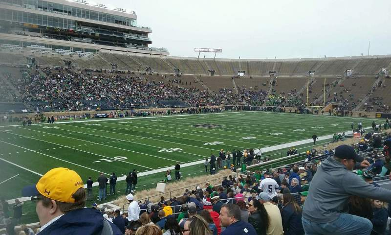 Seating view for Notre Dame Stadium Section 14 Row 32 Seat 24