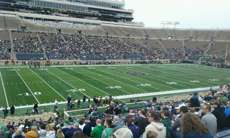 Seating view for Notre Dame Stadium Section 13 Row 41 Seat 17