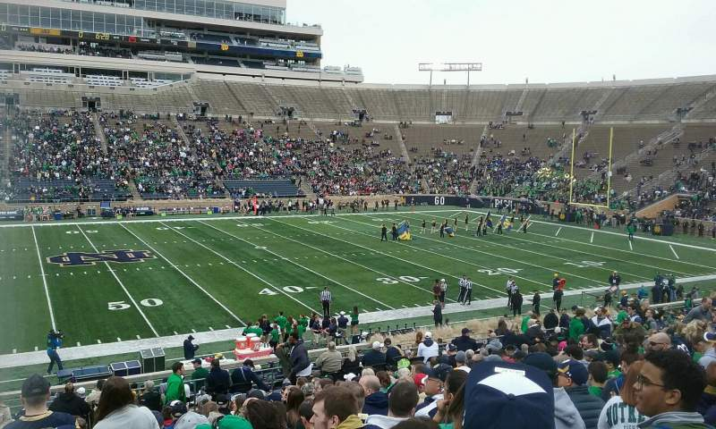 Seating view for Notre Dame Stadium Section 11 Row 38 Seat 26