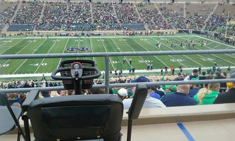 Seating view for Notre Dame Stadium Section 10 Row 58 Seat 6