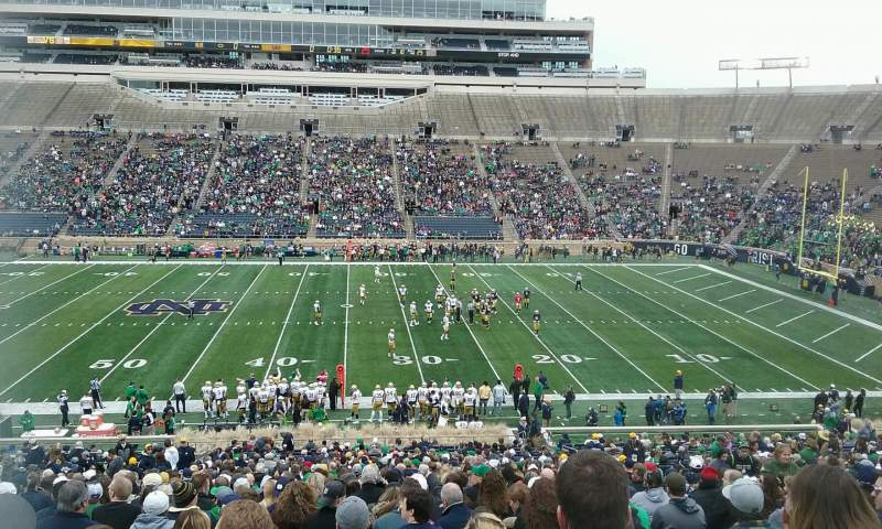 Seating view for Notre Dame Stadium Section 9 Row 54 Seat 13