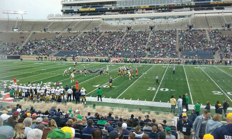 Seating view for Notre Dame Stadium Section 9 Row 26 Seat 26