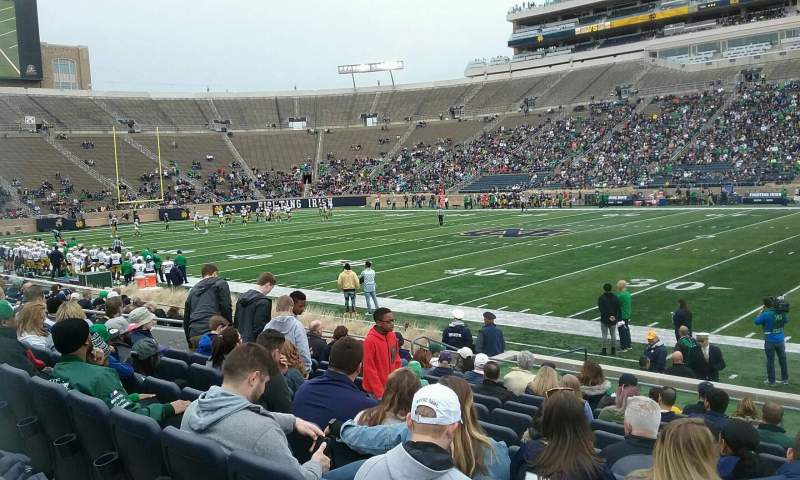 Seating view for Notre Dame Stadium Section 8 Row 18 Seat 8