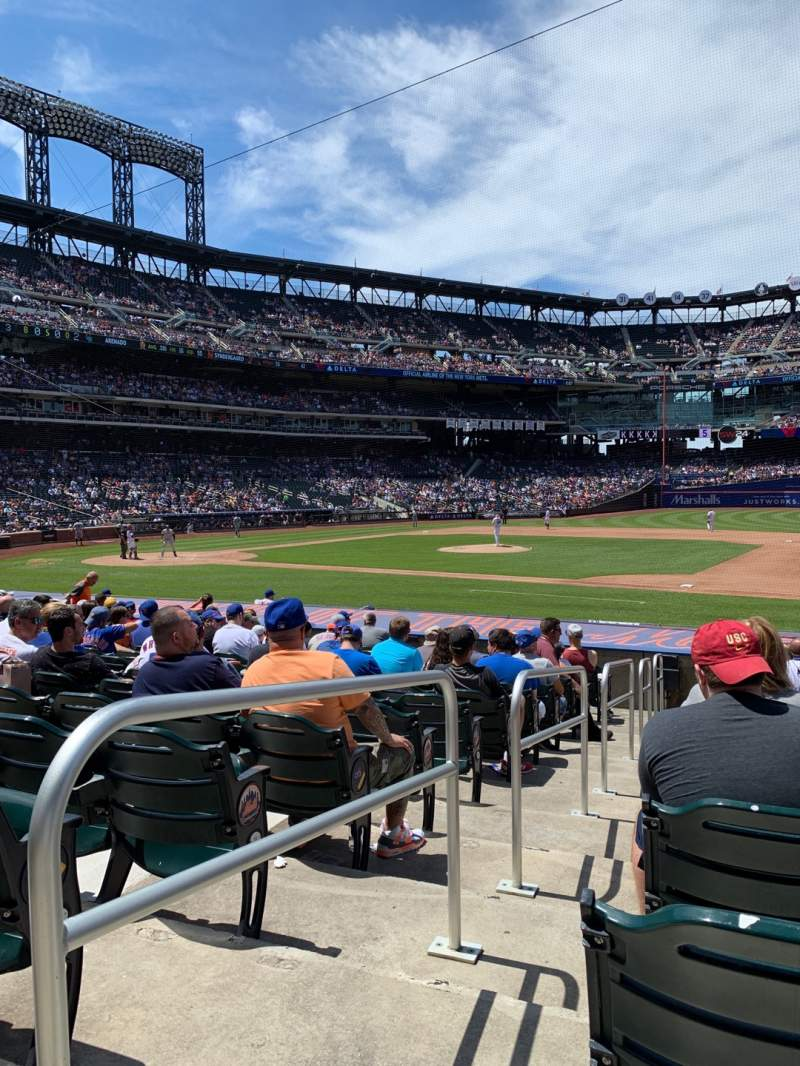 Seating view for Citi Field Section 112 Row 14 Seat 1