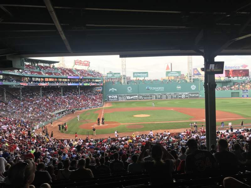 Seating view for Fenway Park Section Grandstand 17 Row 15 Seat 14