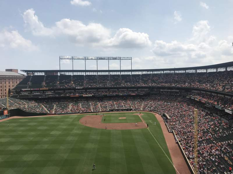 Oriole Park At Camden Yards Section 382 Home Of Baltimore