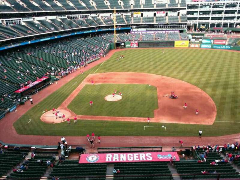 Seating view for Globe Life Park in Arlington Section 333 Row 1 Seat 4