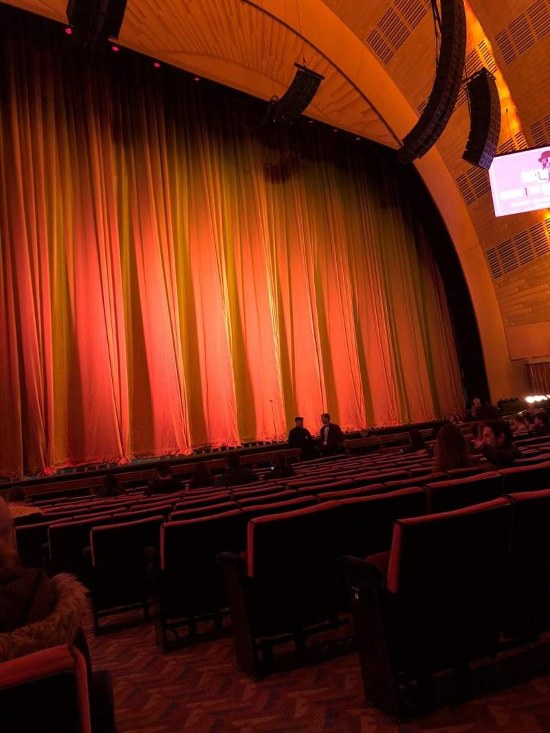 Radio City Music Hall, section: Orchestra 6, row: OO, seat: 601