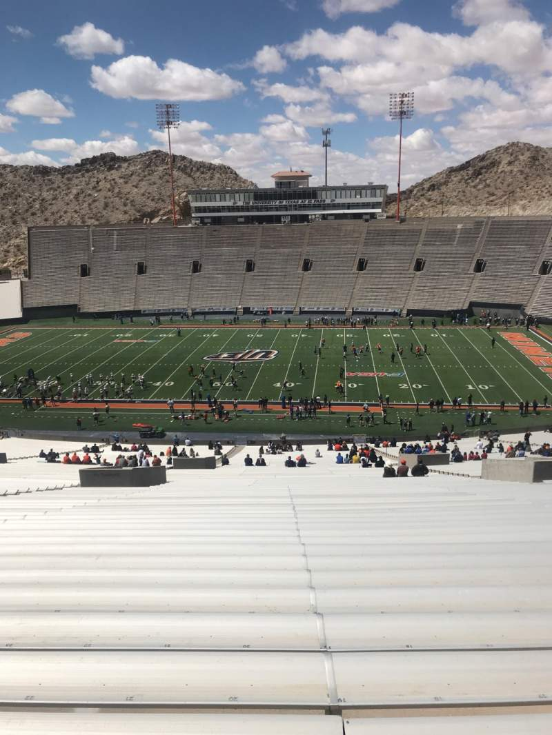 Seating view for Sun Bowl Stadium Section 21 Row 84 Seat 20