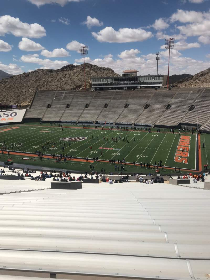 Seating view for Sun Bowl Stadium Section 19 Row 84 Seat 21