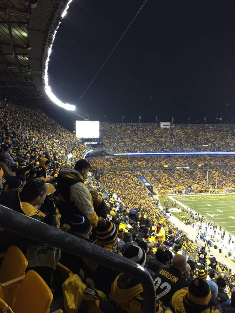 Seating view for Heinz Field Section 541 Row T Seat 10