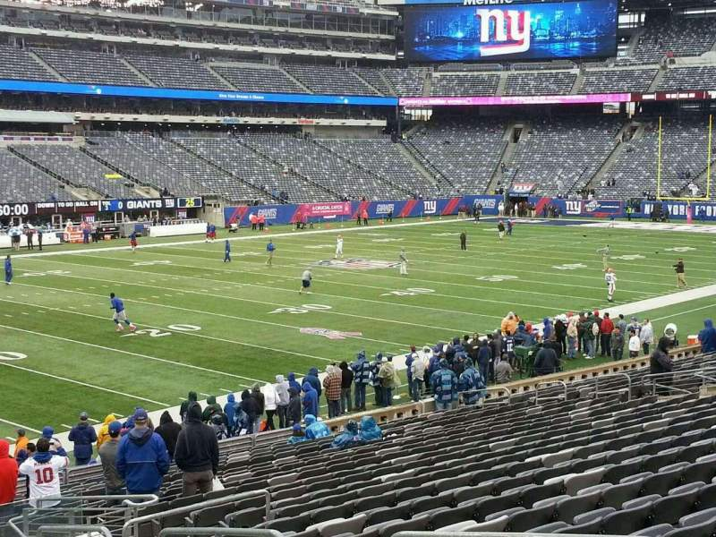 Seating view for MetLife Stadium Section 144 Row 24 Seat 2