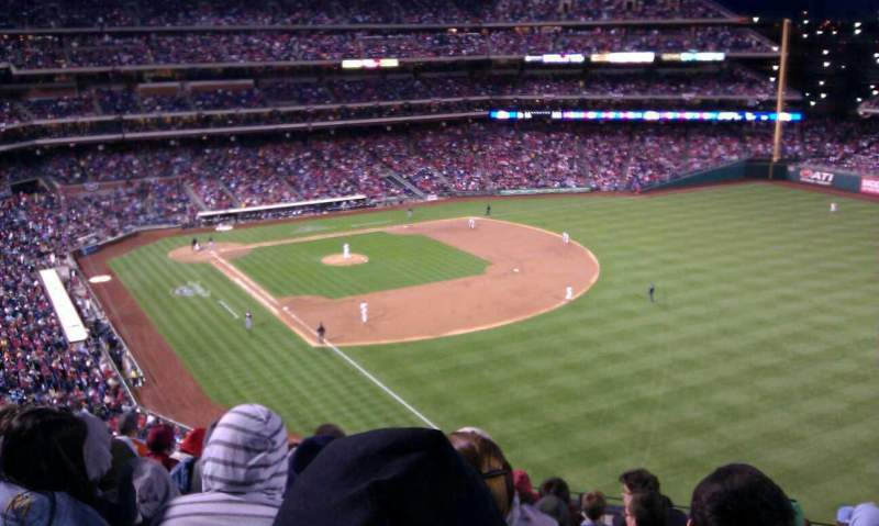 Seating view for Citizens Bank Park Section 308 Row 9 Seat 7