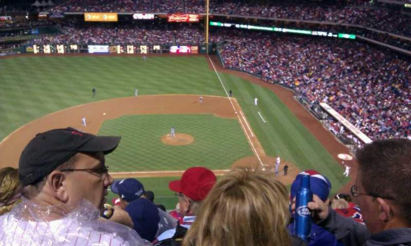 Seating view for Citizens Bank Park Section 325 Row standing