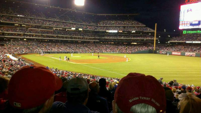 Seating view for Citizens Bank Park Section 110 Row 38 Seat 2