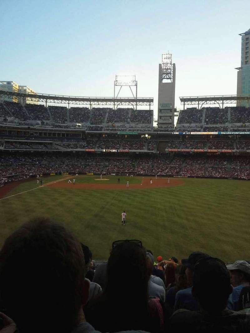 Seating view for PETCO Park Section 133 Row 16 Seat 12