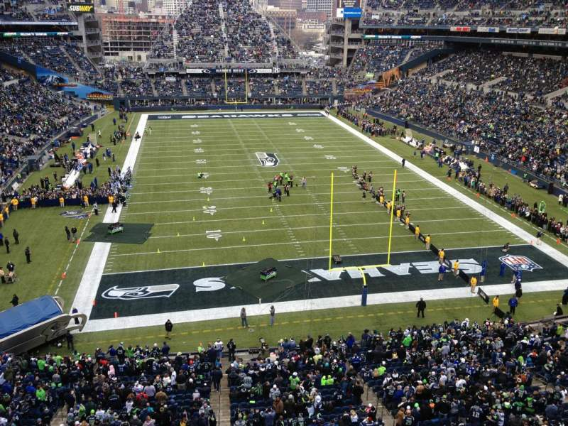 Seating view for CenturyLink Field Section 323 Row A Seat 18
