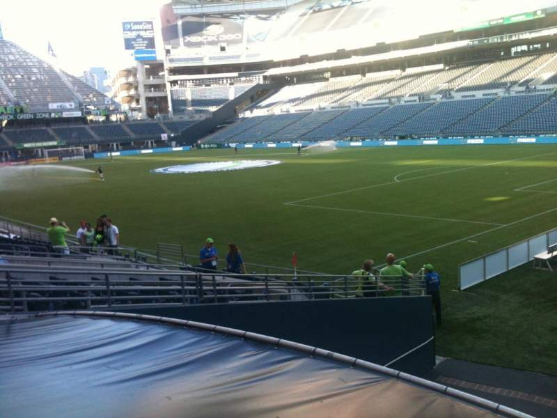 Seating view for CenturyLink Field Section 128 Row R Seat 1