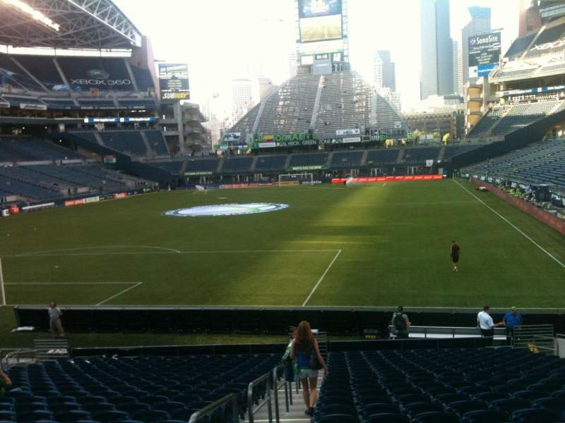 Seating view for CenturyLink Field Section 119 Row X Seat 13