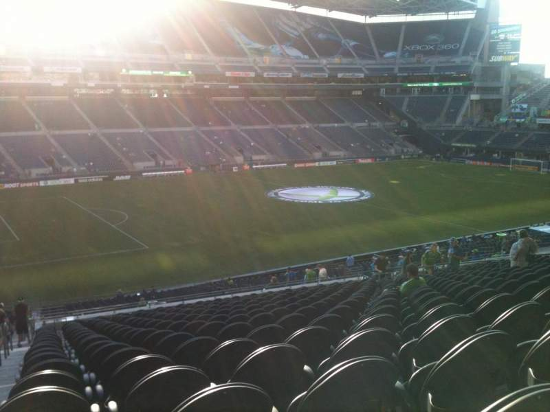 Seating view for CenturyLink Field Section 213 Row W Seat 20