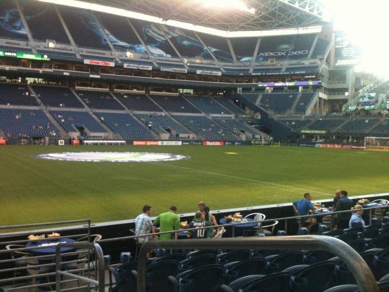 Seating view for CenturyLink Field Section 111 Row G Seat 1