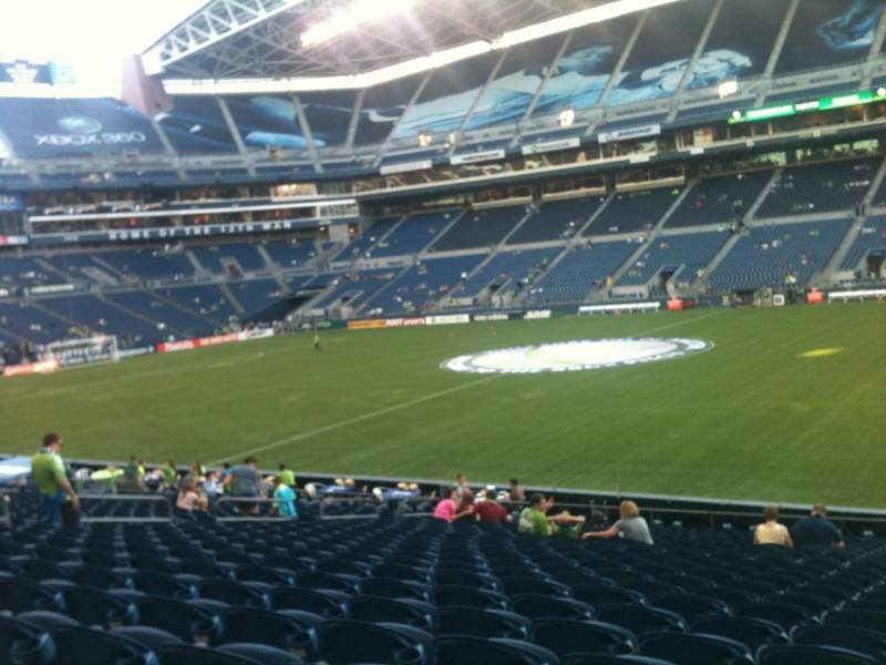 Seating view for CenturyLink Field Section 107 Row W Seat 1