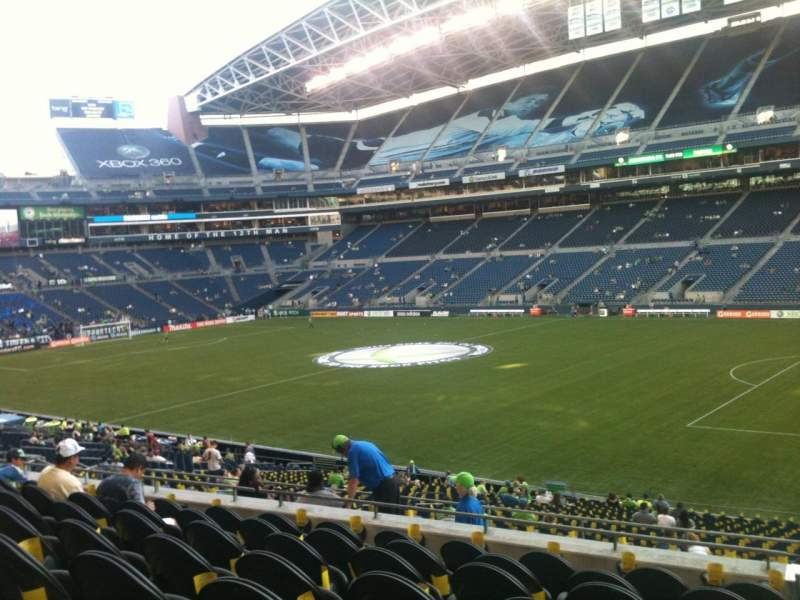 Seating view for CenturyLink Field Section 205 Row H Seat 1
