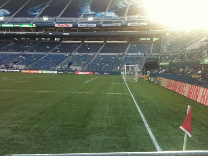Seating view for CenturyLink Field Section 104 Row A Seat 14