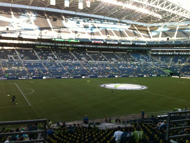 Seating view for CenturyLink Field Section 239 Row C Seat 1