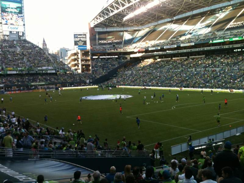 Seating view for CenturyLink Field Section 127 Row Z Seat 13