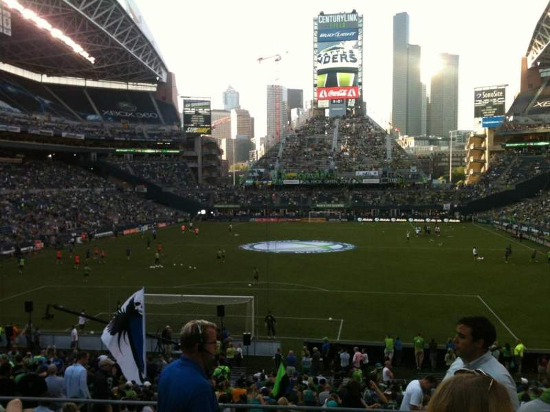 Seating view for CenturyLink Field Section 121 Row CC Seat 7