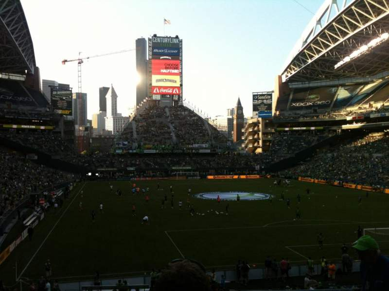 Seating view for CenturyLink Field Section 125 Row CC Seat 1