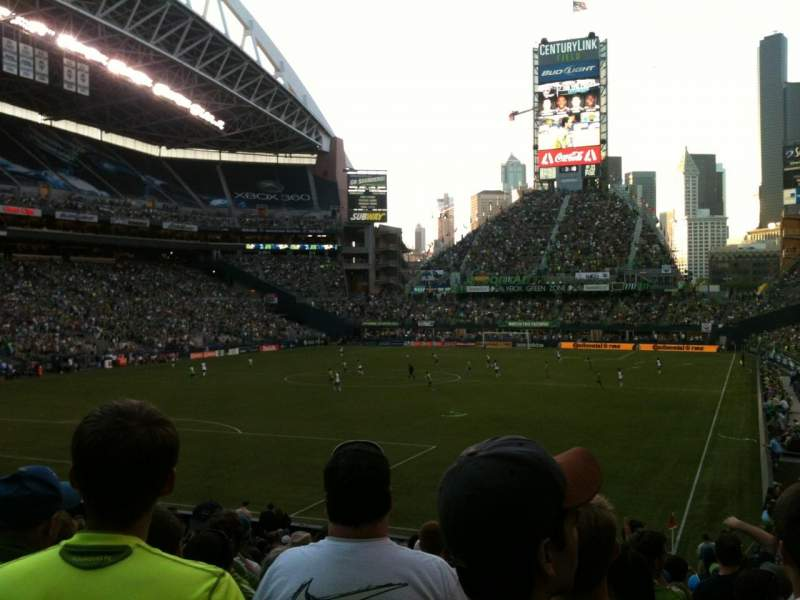 Seating view for CenturyLink Field Section 118 Row Z Seat 12