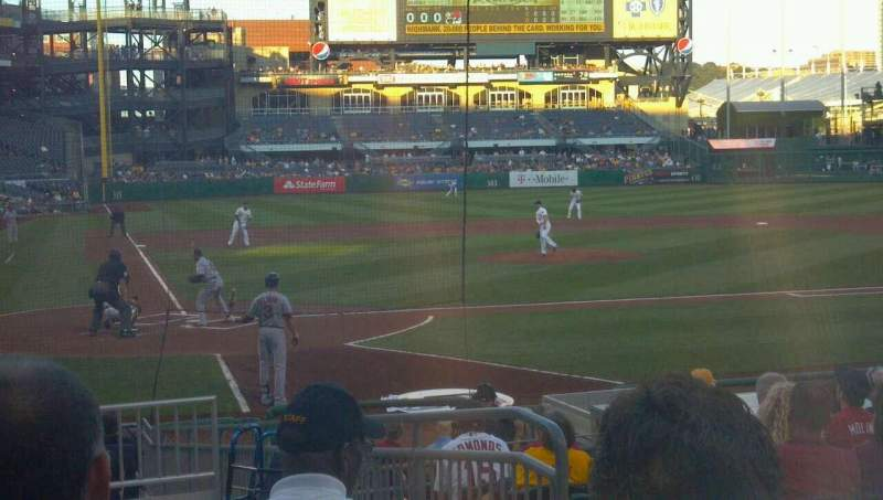 Seating view for PNC Park Section 114 Row C Seat 4