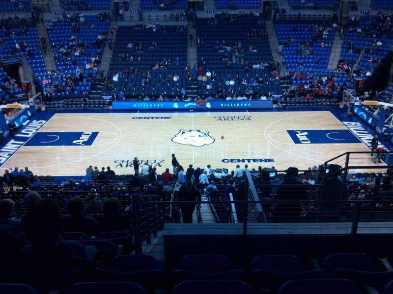 Seating view for Chaifetz Arena Section 204 Row G Seat 5