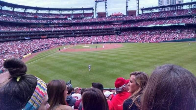 Seating view for Busch Stadium Section 109 Row 30 Seat 12