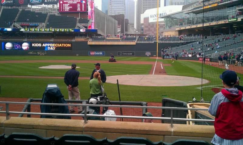 Seating view for Target Field Section 12 Row 8 Seat 2